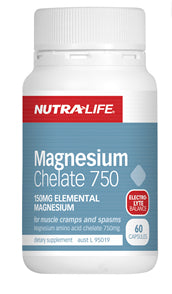 NUTRALIFE MAGNESIUM CHELATE 750MG 180C - Natural Food Barn