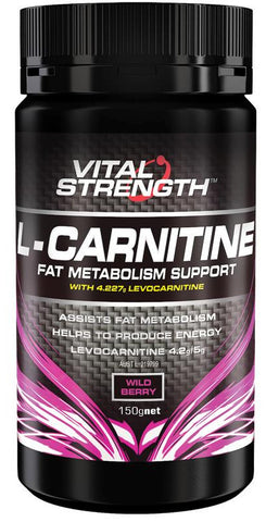 VITAL STRENGTH CARNITINE 150GM - Natural Food Barn
