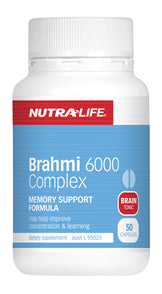 NUTRALIFE BRAHMI 6000 50C - Natural Food Barn