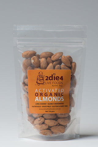 2DIE4 ACTIVATED ALMONDS 120GM - Natural Food Barn