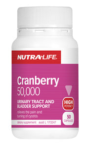 NUTRALIFE CRANBERRY 50,000 100C - Natural Food Barn