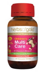 Herbs of Gold CHILDREN MULTI CARE 60CT - Natural Food Barn