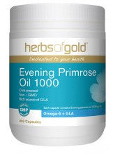 Herbs of Gold EPO 1000MG 400C Evening Primrose Oil - Natural Food Barn