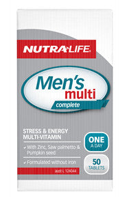 NUTRALIFE MENS MULTI COMPLETE 50TDELETED - Natural Food Barn