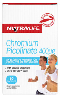 NUTRALIFE CHROMIUM 400uG 60C - Natural Food Barn