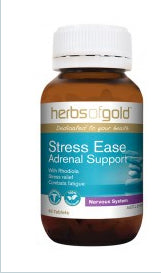 Herbs of Gold STRESS-EASE ADRENAL SUPPORT 60T - Natural Food Barn