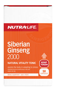 NUTRALIFE SIBERIAN GINSENG 50C DELETED - Natural Food Barn
