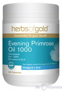 Herbs of Gold EPO 1000MG 200C Evening Primrose Oil - Natural Food Barn