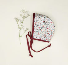 Loading Image in Gallery View, Lace Bonnet Bonnet in Cotton and Linen Lilly Rose