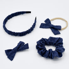 Load image in Gallery view, Cotton scrunchie Emma navy