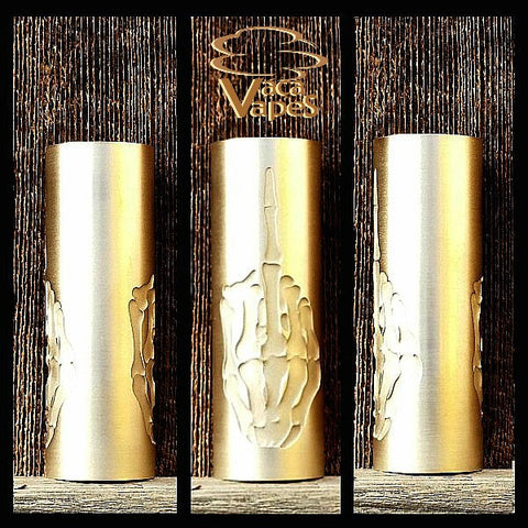 Custom Etched Brass Limitless Mod Sleeve. One of a Kind. Sleeve ONLY #0028