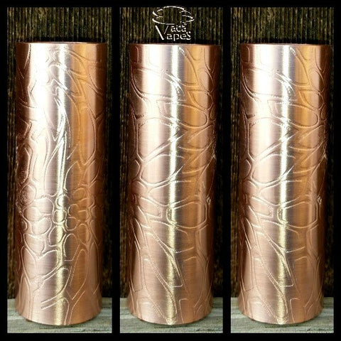 Custom Etched Copper Limitless Mod Sleeve. One of a Kind. Sleeve ONLY #0031