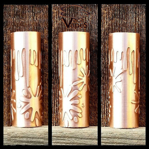 Custom Etched Copper Limitless Mod Sleeve. One of a Kind. Sleeve ONLY #0032
