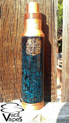 "Custom Patina 26650 Chi You Megan Clone Mechanical Mod<BR><font size=""4"" color=""red"">SOLD</font>"