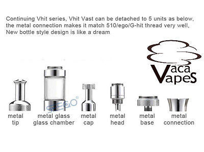 Seego Vhit Vast Atomizer - And Replacement Parts
