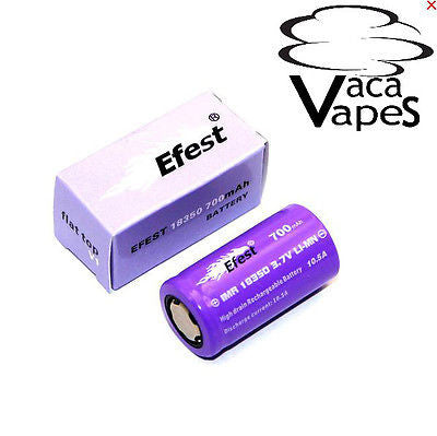 Efest Purple IMR 18350 700mAH 10.5A 3.7v Purple High Drain Flat Top Batteries