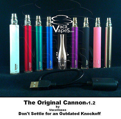 The Original Cannon Atomizer plus Vision Spinner 1300mAH Kit