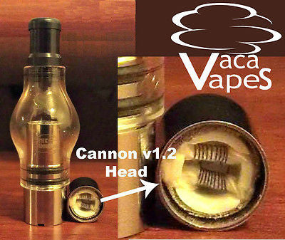 Glass Globe Atomizer with Dual Coil Cannon Heads