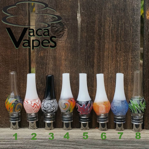 Hand Blown Colorful Glass Globes with Cannon v1.2 Atomizer Coil Upgrade Option