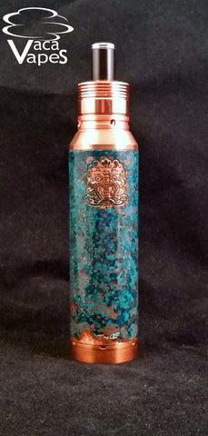 One of a Kind Forced Patina 26650 Copper Chi You Megan Mechanical Mod Clone #367