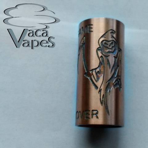 Custom Etched Copper Able Mod Sleeve. One of a Kind. Sleeve ONLY #0022