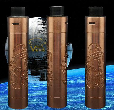 Custom Etched Tugboat V2 Style Mechanical Mod + RDA Combo #003TB