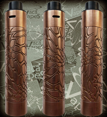 Etched Tugboat V2 Style Mechanical Mod + RDA Combo #0014TB
