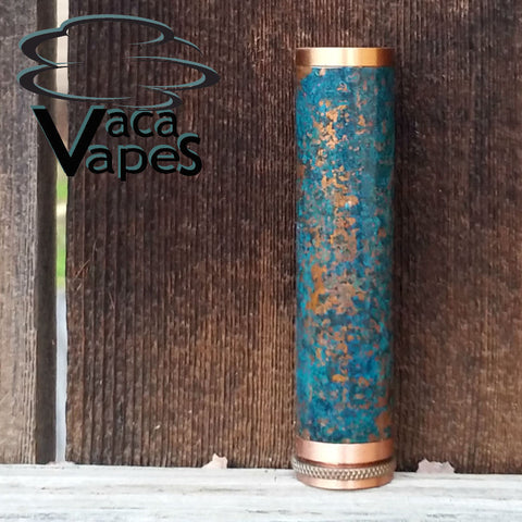 One of a Kind Forced Patina 18650 Copper Pegasus Mod #558