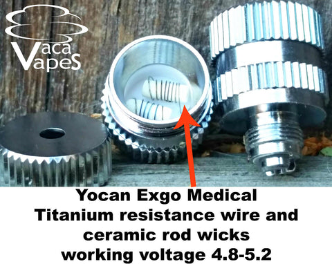 Exgo Medical Replacement Coils w/ Titanium Resistance Wire and Ceramic Rod Wicks