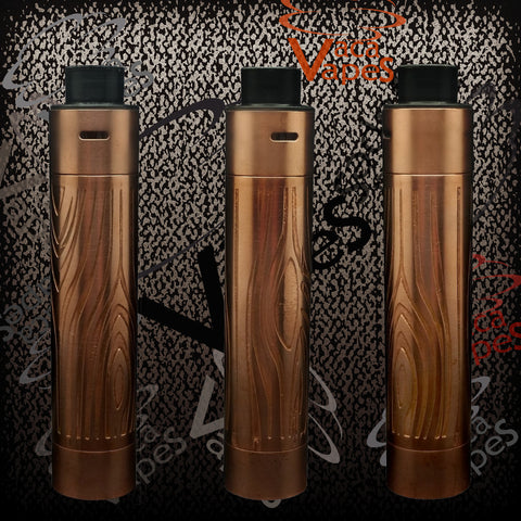 Custom Etched Tugboat V2 Style Mechanical Mod + RDA Combo #009TB