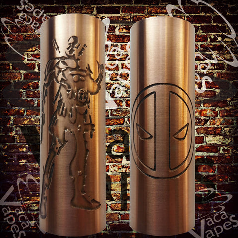 Etched SLEEVE for Limitless Mods by VacaVapes in Copper, Brass Aluminum #L0024