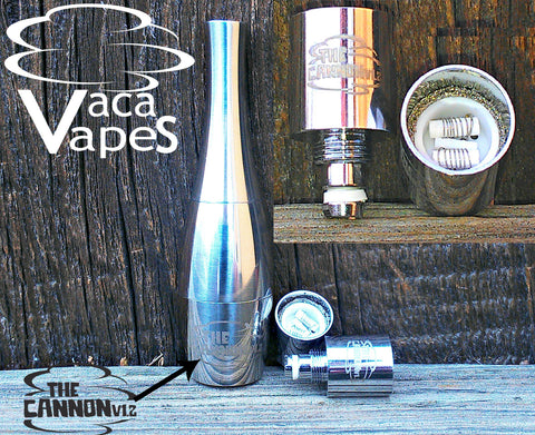 The Original CANNON Atomizer - Now with Dual Titanium/Ceramic Coils!