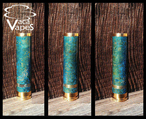 One of a Kind Forced Patina 18650 Orich Mechanical Mod Clone #358