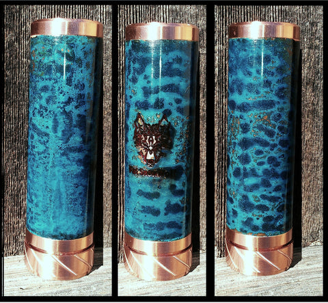 One of a Kind Forced Patina 26650 Fat Snow Wolf Mechanical Mod Clone #363