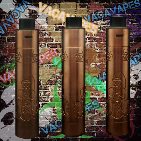 Custom Etched Tugboat V2 Style Mechanical Mod + RDA Combo #008TB