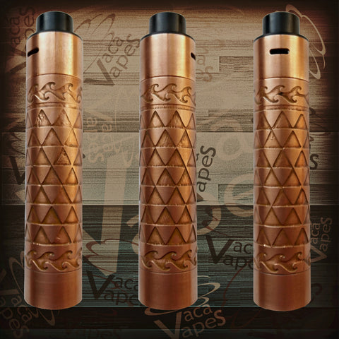 Etched Tugboat V2 Style Mechanical Mod + RDA Combo #0015TB