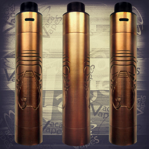 Etched Tugboat V2 Style Mechanical Mod + RDA Combo #0013TB