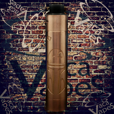 Custom Etched Tugboat V2 Style Mechanical Mod + RDA Combo #002TB