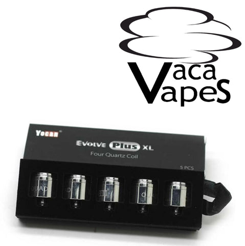Pack of 5 Replacement Coils for YoCan Evolve Plus XL Choice of Caps or No Caps