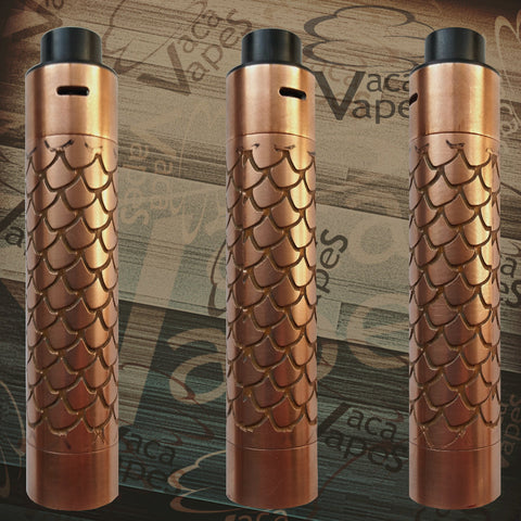 Etched Tugboat V2 Style Mechanical Mod + RDA Combo #0016TB