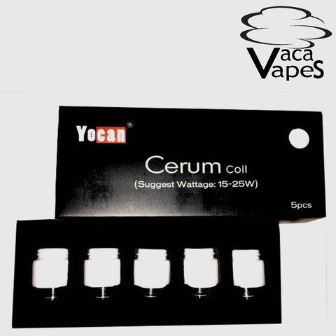 5 Pack Replacement Ceraic Donut Coils for the YoCan Cerum