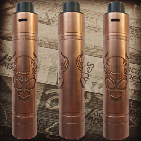 Custom Etched Tugboat V2 Style Mechanical Mod + RDA Combo #0012TB