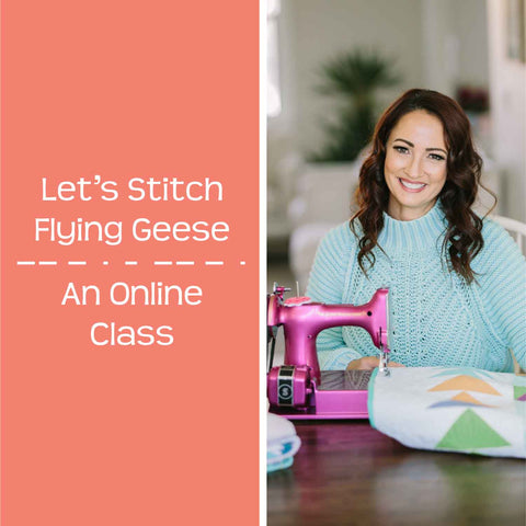 let's stitch flying geese