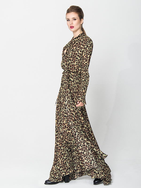 Long Pleated Printed Dress Fall 2020 Angelika Jozefczyk