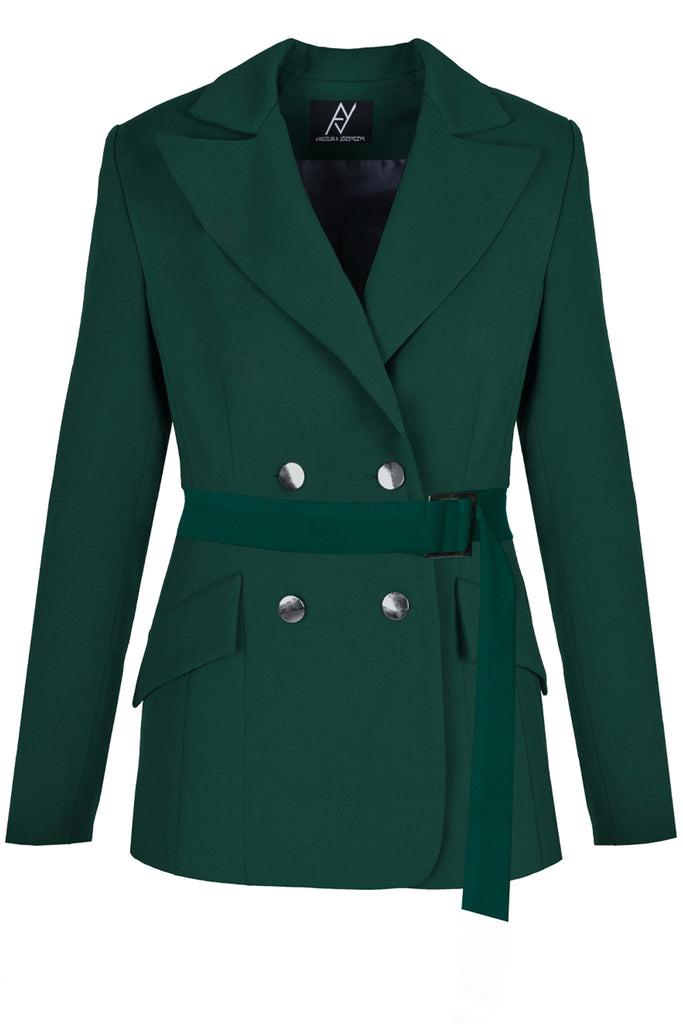 Emerald Green Double Breasted Blazer