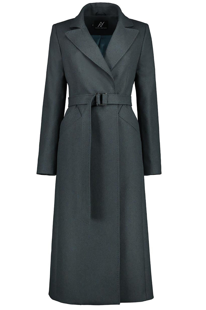 Timeless Icon Green Wool-Blend Coat