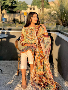 Ameema and Lujain - 3 PC Unstitched Collection