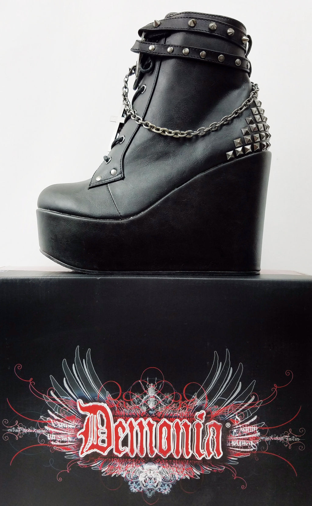 "Poison 101 Goth Punk Platform Ankle Boot 5"" Wedge"