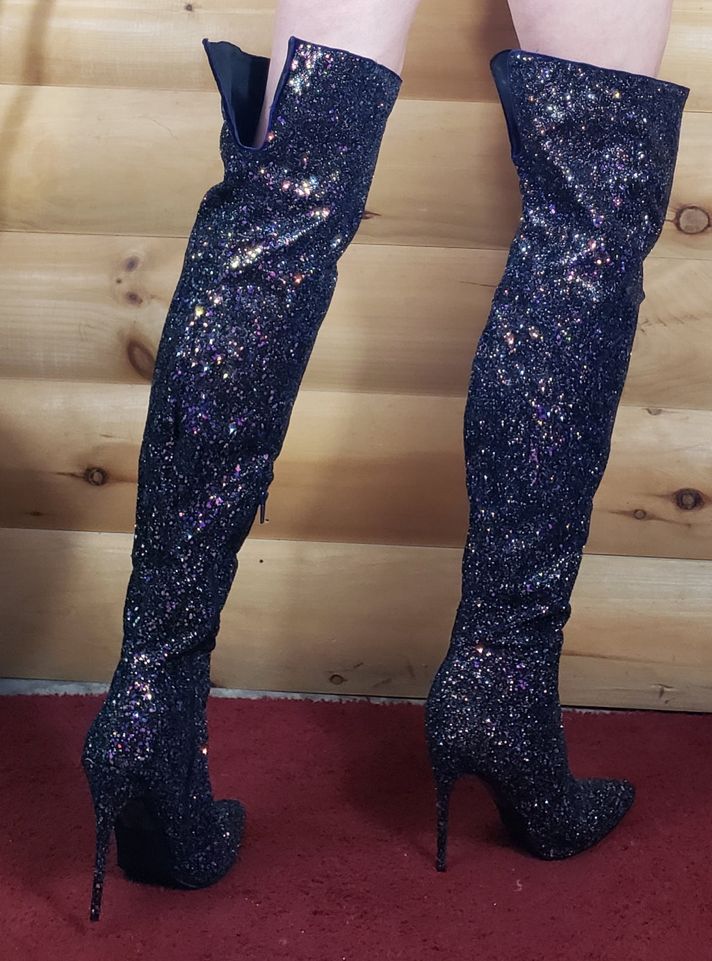 "Thigh High Boots 5"" Stiletto Heel"