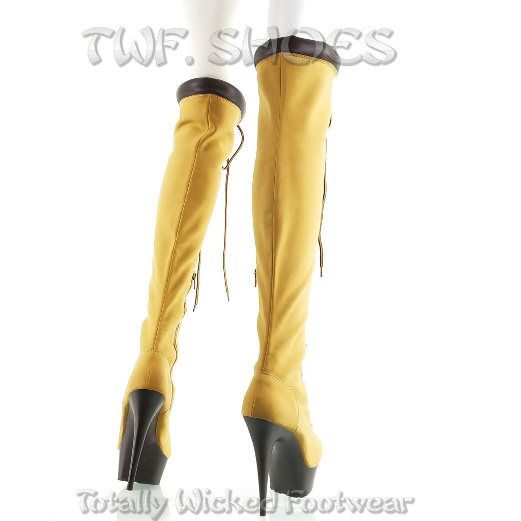 Delight 3000tl Lace Up Sexy work style Thigh High Boots